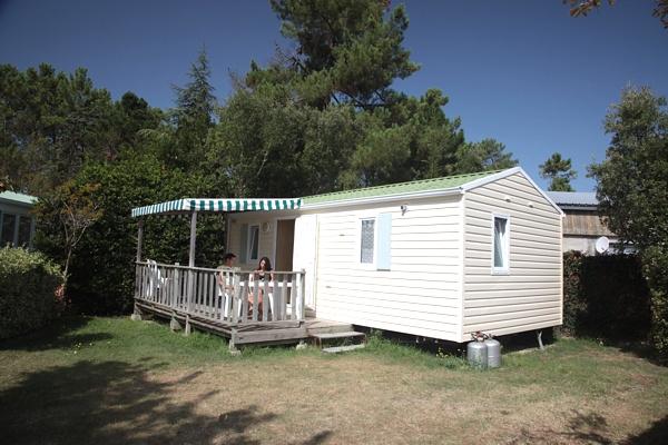 Terrasse du mobil home camping saint jean de monts