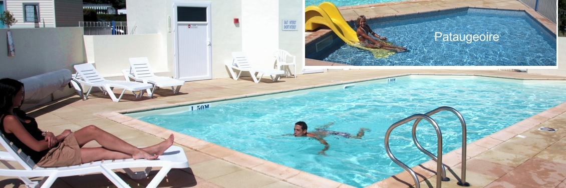 Camping avec piscine chauffée et pataugeoire